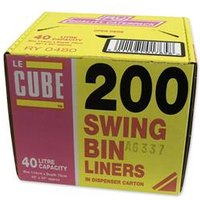Robinson Young Le Cube Swing Bin Liners 44 Gauge [Pack 200] - 02184