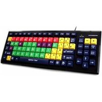 Accuratus Mixed Colour Learning USB Keyboard