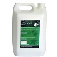 5 Star Facilities Lemon Washing-up Liquid 5 Litres - 936601