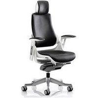 Zure Executive Chair Black Bonded Leather With Arms With Headrest