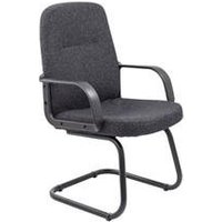 Canasta Visitor Fabric Chair - Charcoal - CH0767CH