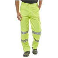 BSeen Poly Cotton Trousers En471 Saturn Yellow 28 - PCTENSY28