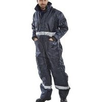 Click Freezerwear Coldstar Freezer Coverall Navy Blue S - CCFCNS