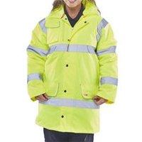 BSeen Fleece Lined Traffic Jacket Saturn Yellow Xxxl - CTJFLSYXXXL