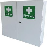 Click Medical Double Door Metal First Aid Cabinet - CM1121