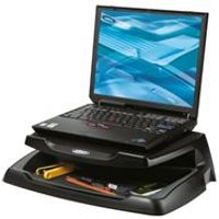 Q-Connect Laptop and LCD Monitor Stand Black Ref KF04553