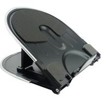 Q-Connect Aluminium Laptop Stand Black/Silver Ref KF20077