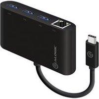 ALOGIC USB-C to Gigabit Ethernet & USB 3. 0 SuperSpeed 3 Port USB Hub