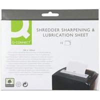 Q-Connect Shredder Sharpening and Lubrication Sheet - KF18470