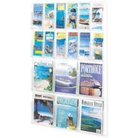 Safco 18 Pocket Deluxe Combination Magazine and Pamphlet Rack
