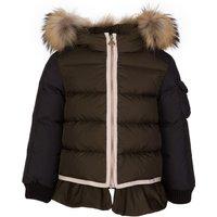 Moncler Enfant Green Passant Coat - Size 9 - 12 Months