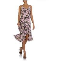 KENZO Pink Silk Print Dress - Size 6