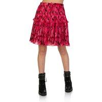 KENZO Fuschia Peonie Pleated Mini Skirt - Size 8