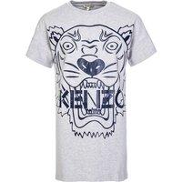 KENZO Kids Grey Tiger Jersey Dress  - Size 16 Years