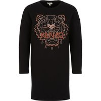 KENZO Kids Black Tiger Sweatshirt Dress - Size 10 Years