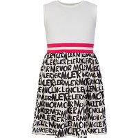 Moncler Enfant White Graffiti Dress - Size 10 Years