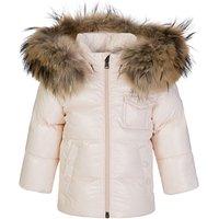 Moncler Enfant Pink K2 Giubbotto Fur Hooded Coat - Size 6 - 9 Months