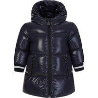 Moncler Enfant Navy Hooded Puffer Coat - Size 6 - 9 Months