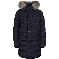Moncler Enfant Navy Blue Fur Puffer Coat - Size 8 Years