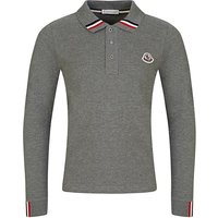 Moncler Enfant Grey Long-Sleeved Polo Shirt - Size 12 Years