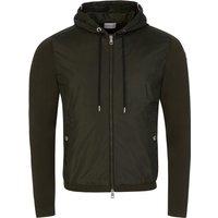 Moncler Green Knit Sleeve Jacket - Size XXL