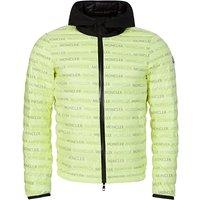 Moncler Green Hooded Logo Puffer Jacket - Size XL