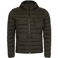 Barbour International Olive Ouston Hooded Quilted Jacket  - Size S