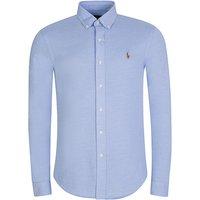Polo Ralph Lauren Blue Long Sleeve Knit Oxford Shirt - Size XL
