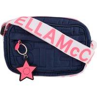 Stella McCartney Kids Navy Logo Quilted Shoulder Bag - Size One Size