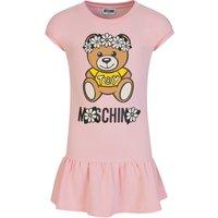 Moschino Kids Pink Daisy Bear Dress - Size 4 Years