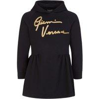 Versace Black Junior Script Hoodie Dress - Size 10 Years