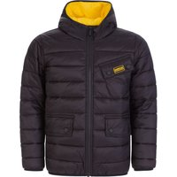Barbour International Kids Black Ouston Quilted Jacket - Size 14 Years