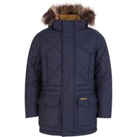 Barbour Kids Navy Holburn Quilted Jacket - Size 14 Years