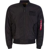 Alpha Industries Black/Camouflage-Print MA-1 FLC Reversible Jacket - Size XXL