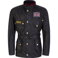 Barbour International Black Union Jack Jacket - Size XL