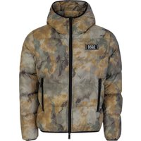Dsquared2 Green Camouflage-Print Down Jacket - Size M