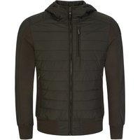 Parajumpers Green Cotton Fleece Gordon Bomber Jacket - Size L
