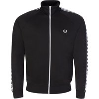 Fred Perry Black Logo Taped Track Jacket - Size S