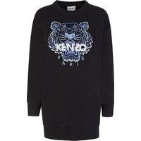 KENZO Black Classic Tiger Sweatshirt Dress - Size 10