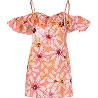 Sundress Pink Linen Maelle Short Dress - Size 8