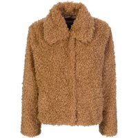 Stand Studio Brown Marcella Faux Fur Jacket - Size 10