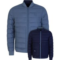 KENZO Blue Reversible Quilted Jacket - Size XS