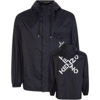 KENZO Black Sport Short Scooter Trench/Rain Jacket - Size M