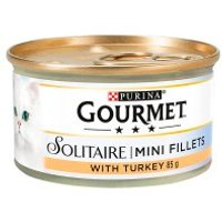 Gourmet Solitaire Tinned Cat Food With Turkey