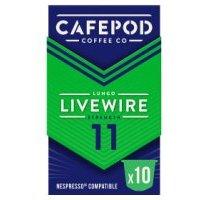 Caf ©pod Livewire Lungo 10 Capsules Strength 11