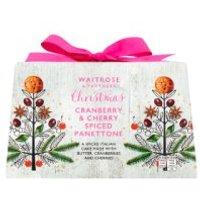 Waitrose Christmas Cranberry & Cherry Panettone