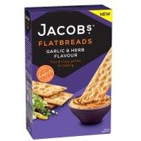 Jacobs Flatbreads Garlic & Herb at Waitrose