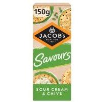 Jacob's Savours Sour Cream & Chive Thins