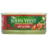 John West wild red salmon skinless & boneless