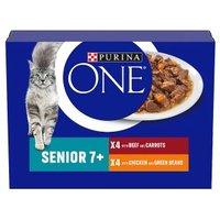 Purina ONE Senior 7+ Cat Mini Fillets in Gravy - chicken & beef wet food pouch